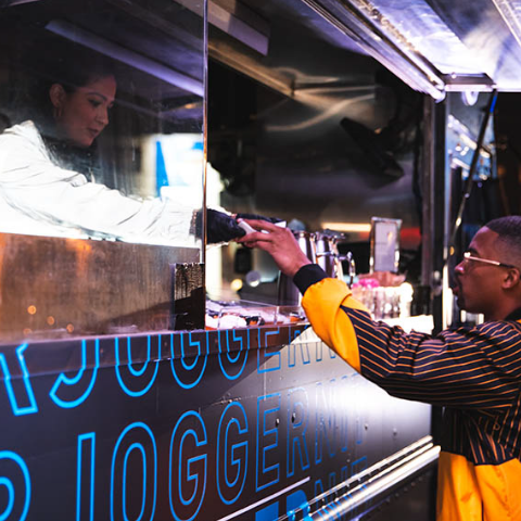 Food truck adidas brand activation example