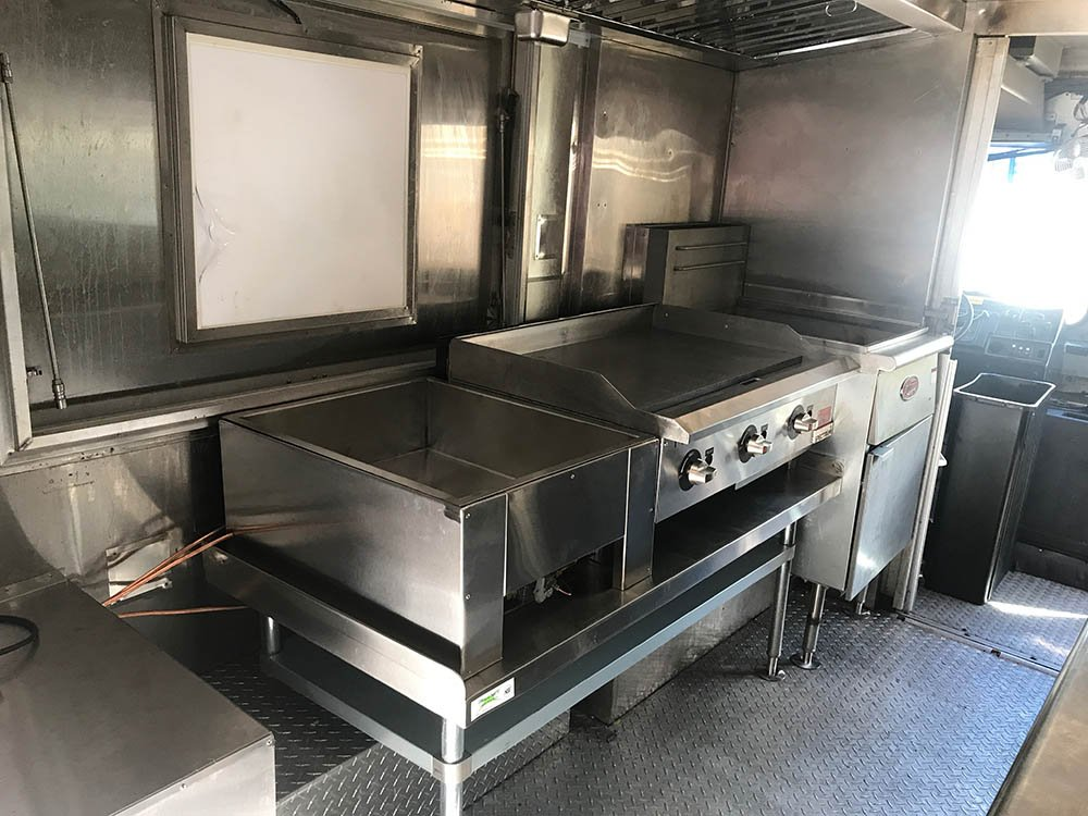 unbranded food truck for rent as a mobile kitchen