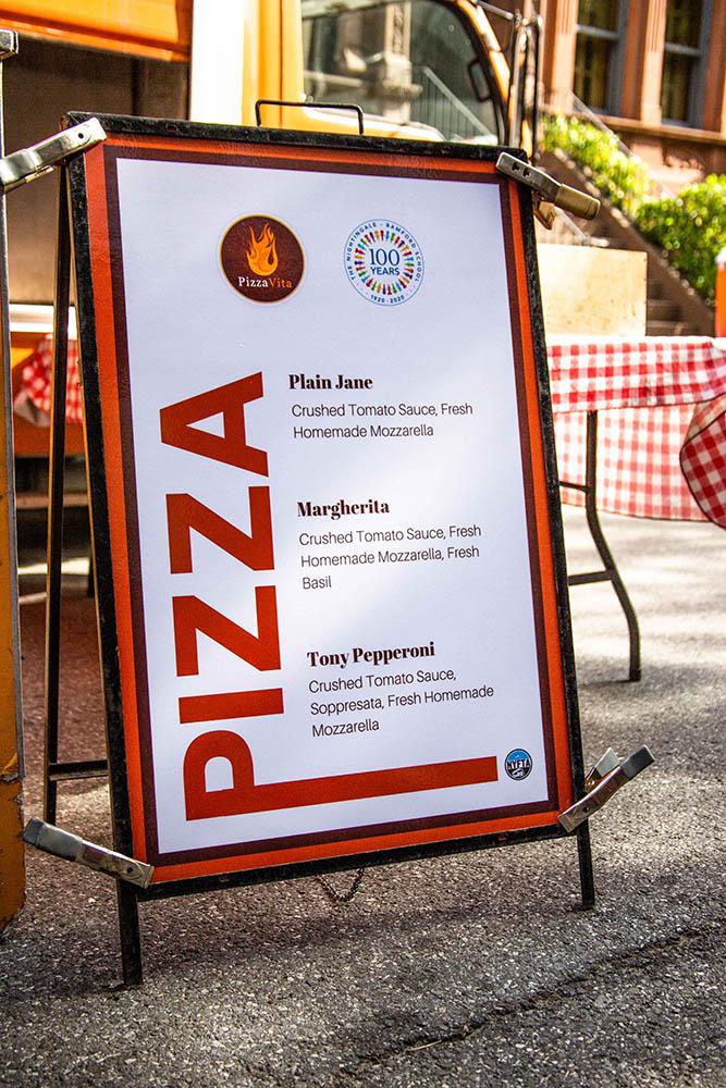 pizza custom menu catering