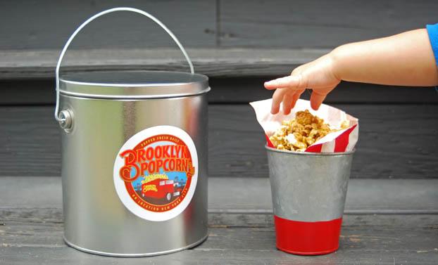 Brooklyn Popcorn Food Truck Rental Popcorn Tub