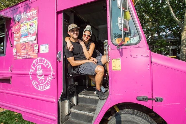 Los Viajeros food truck owners latin fusion cuisine