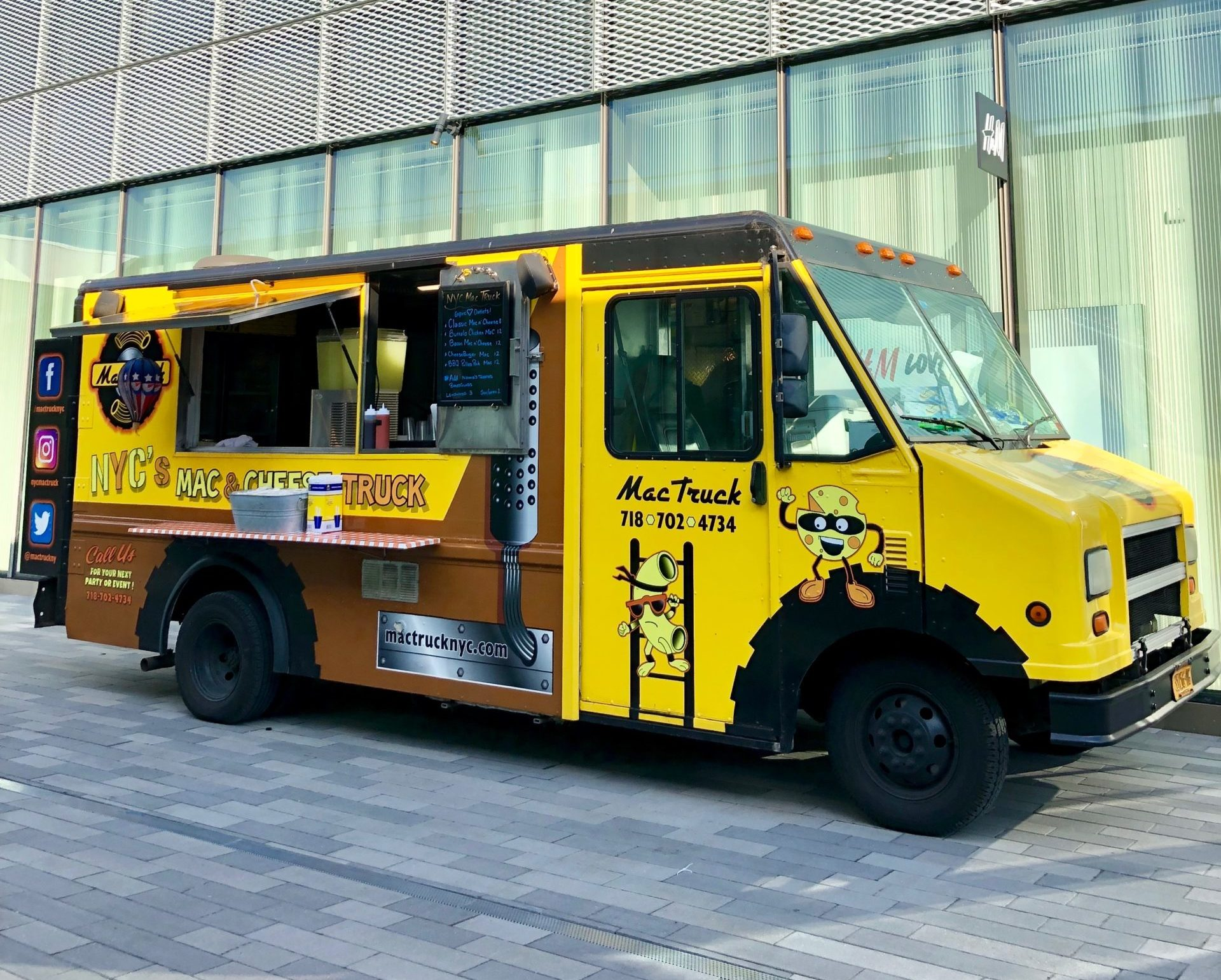 Mac n' cheese food truck catering NYC