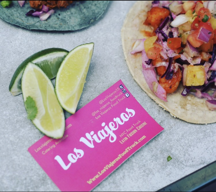 Latin fusion tacos los viajeros food truck