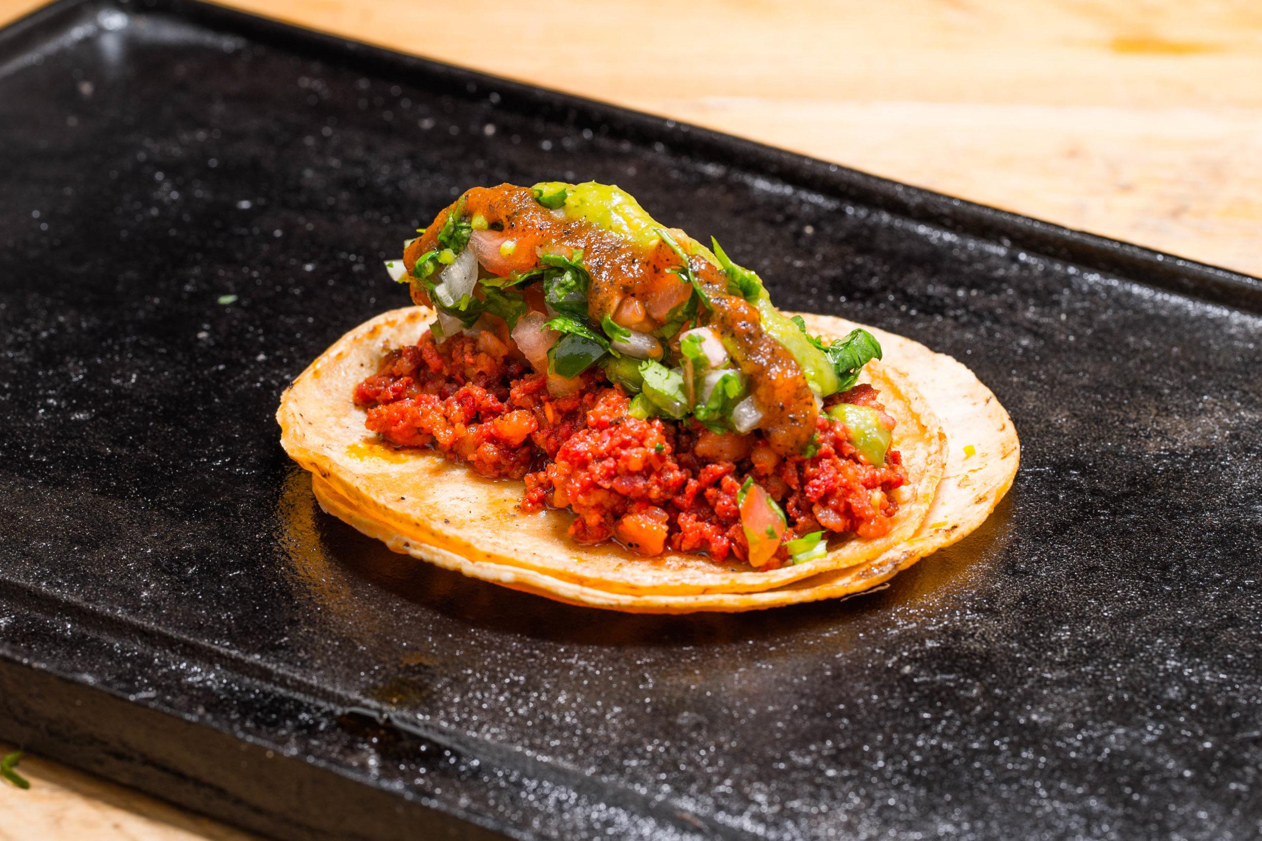 El Toro Rojo food truck Chorizo Taco