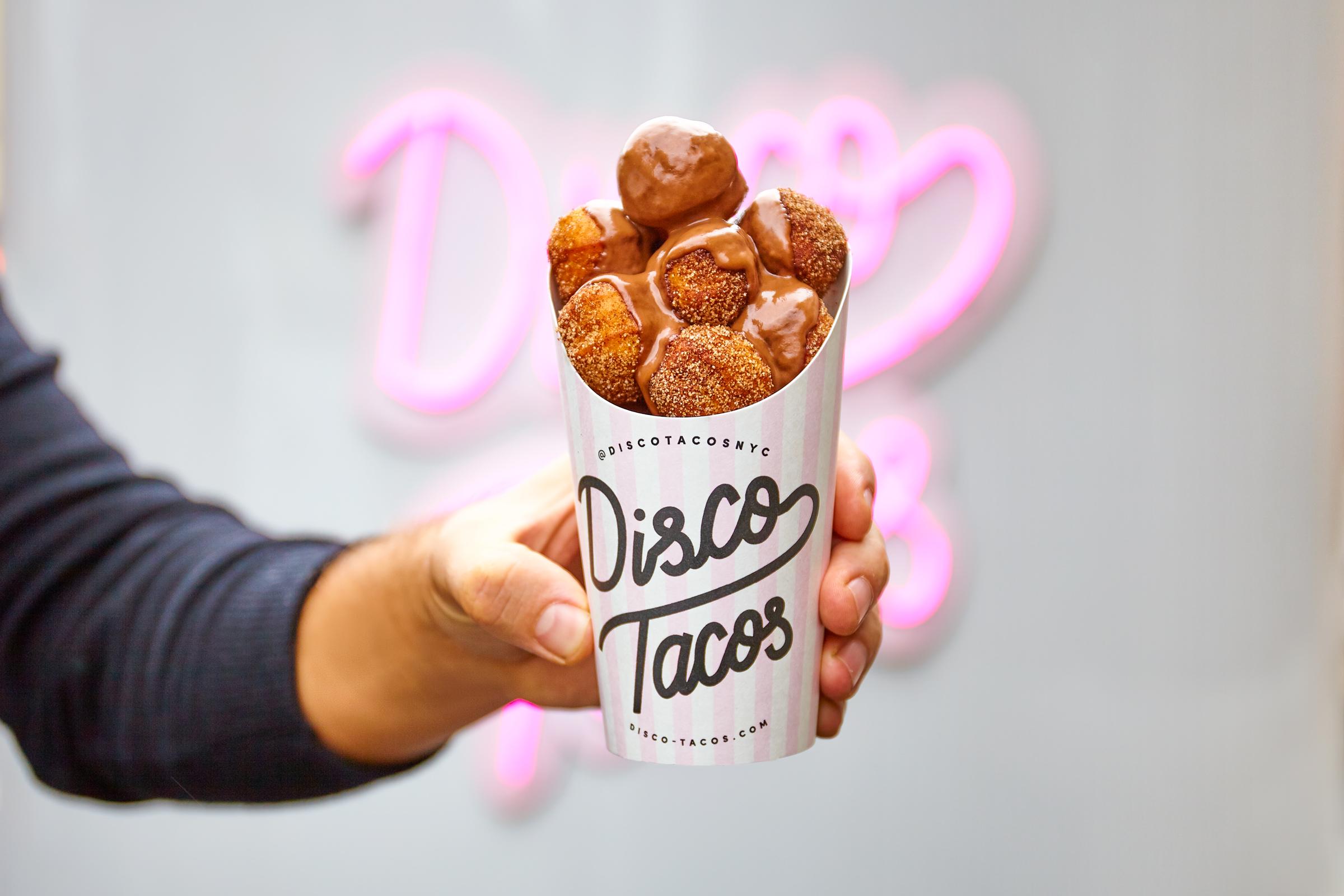 Disco Tacos Churro Donuts