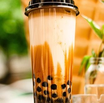 Bubble tea from healthy food truck