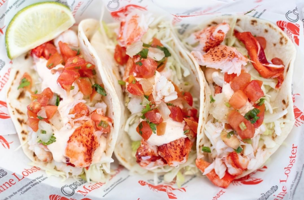 Lobster Tacos From Cousins Maine Food Truck