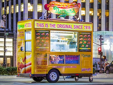 Rent Nathan's Famous Food Cart for Catering