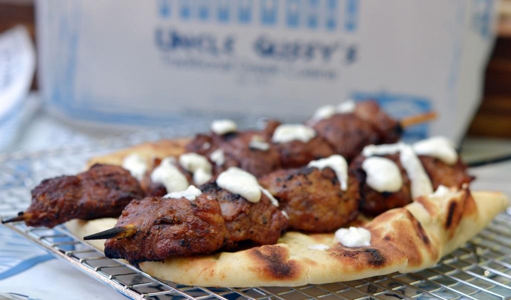 uncle gussy's greek catering pork souvlaki