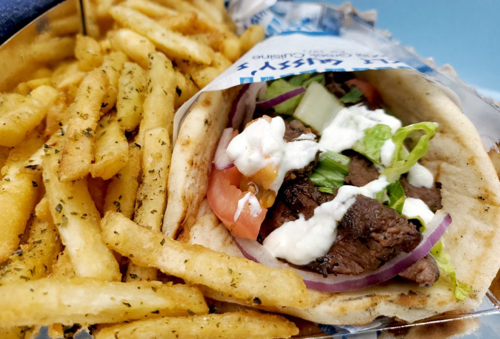 uncle gussy's greek food truck over fries