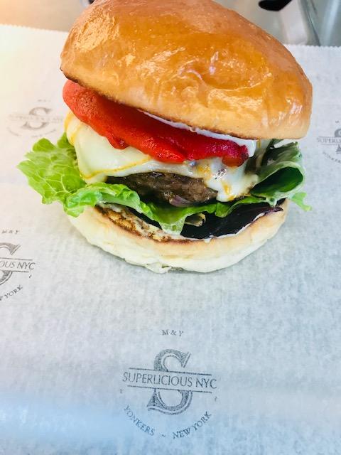 Superlicious burger food truck veggie burger