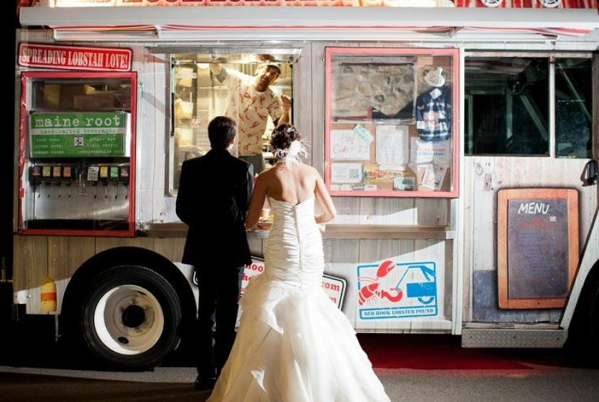 red hook lobster pound truck at Weddings