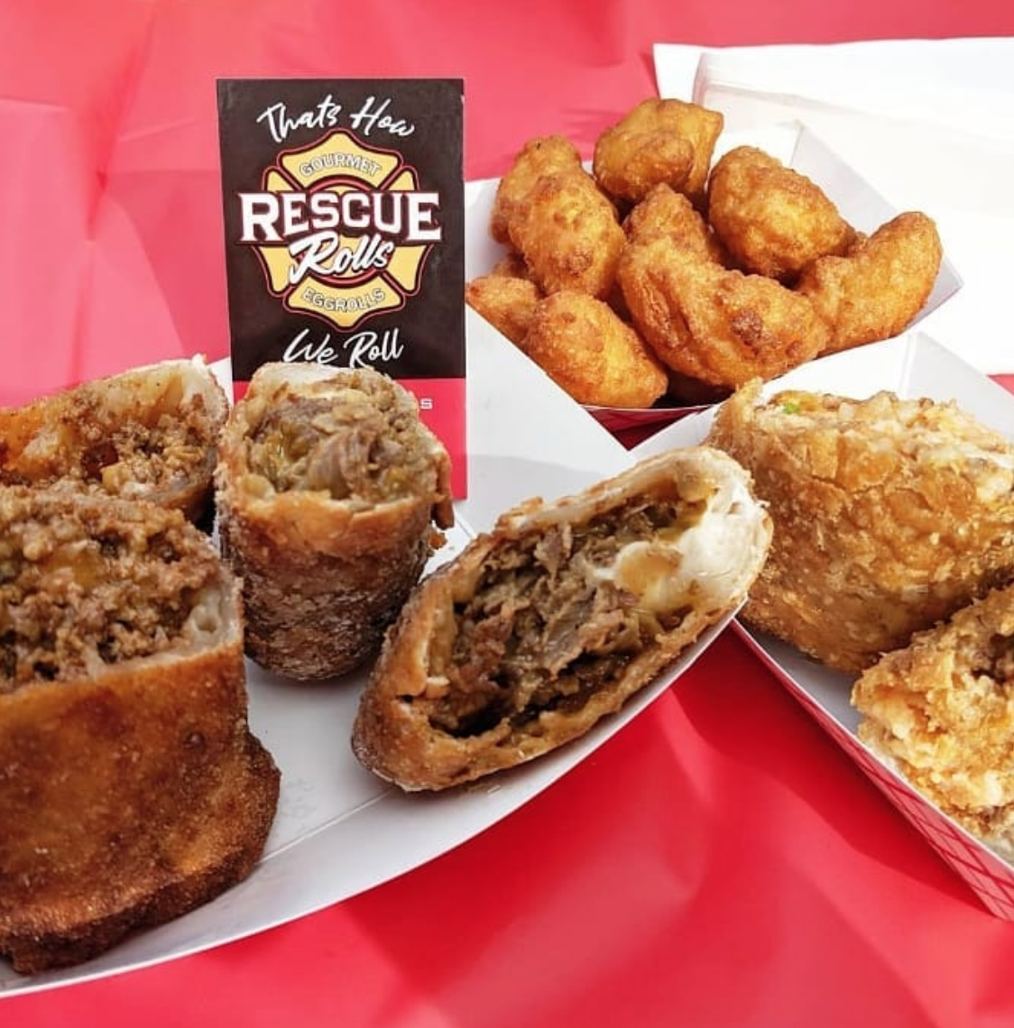 Rescue Rolls Philly Cheesesteak Egg roll