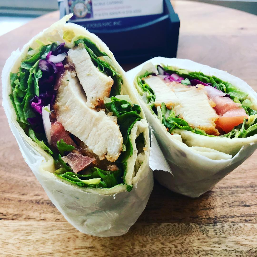 superlicious nyc crispy chicken wrap
