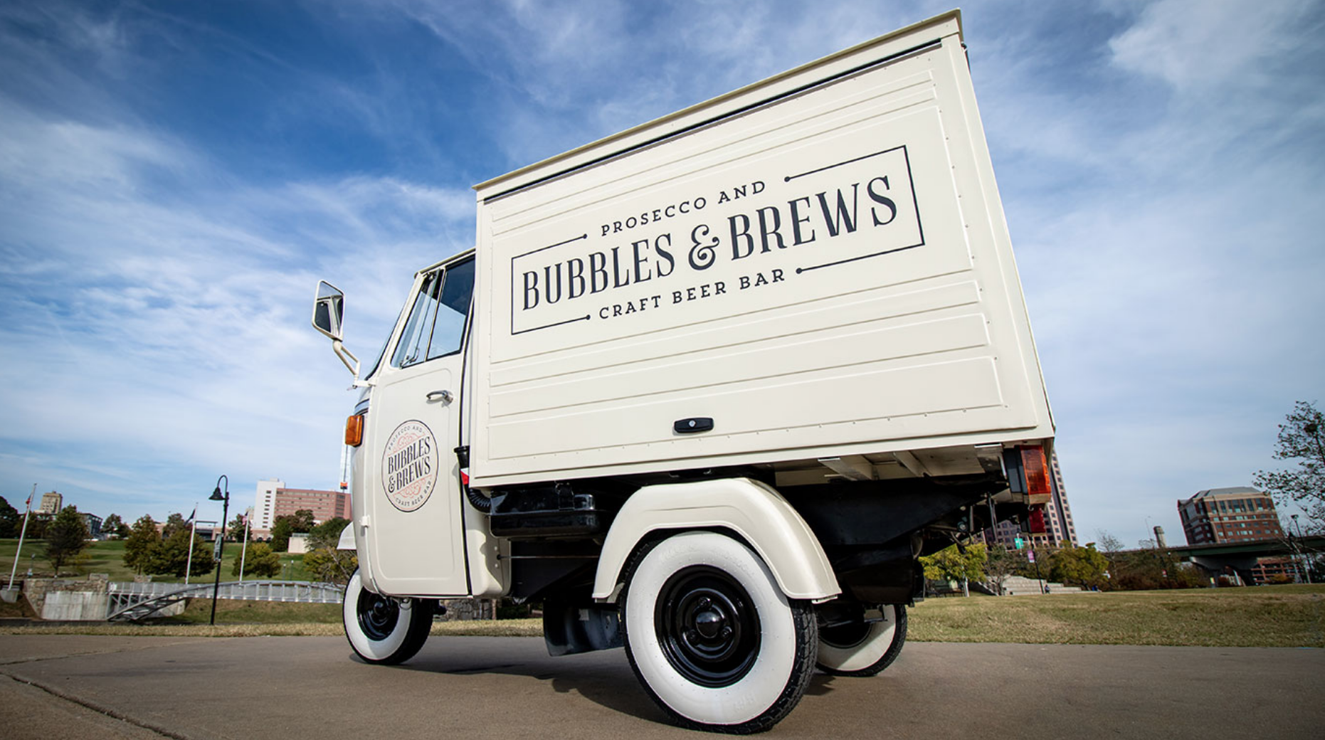 bubbles and brews vintage mobile bar event catering