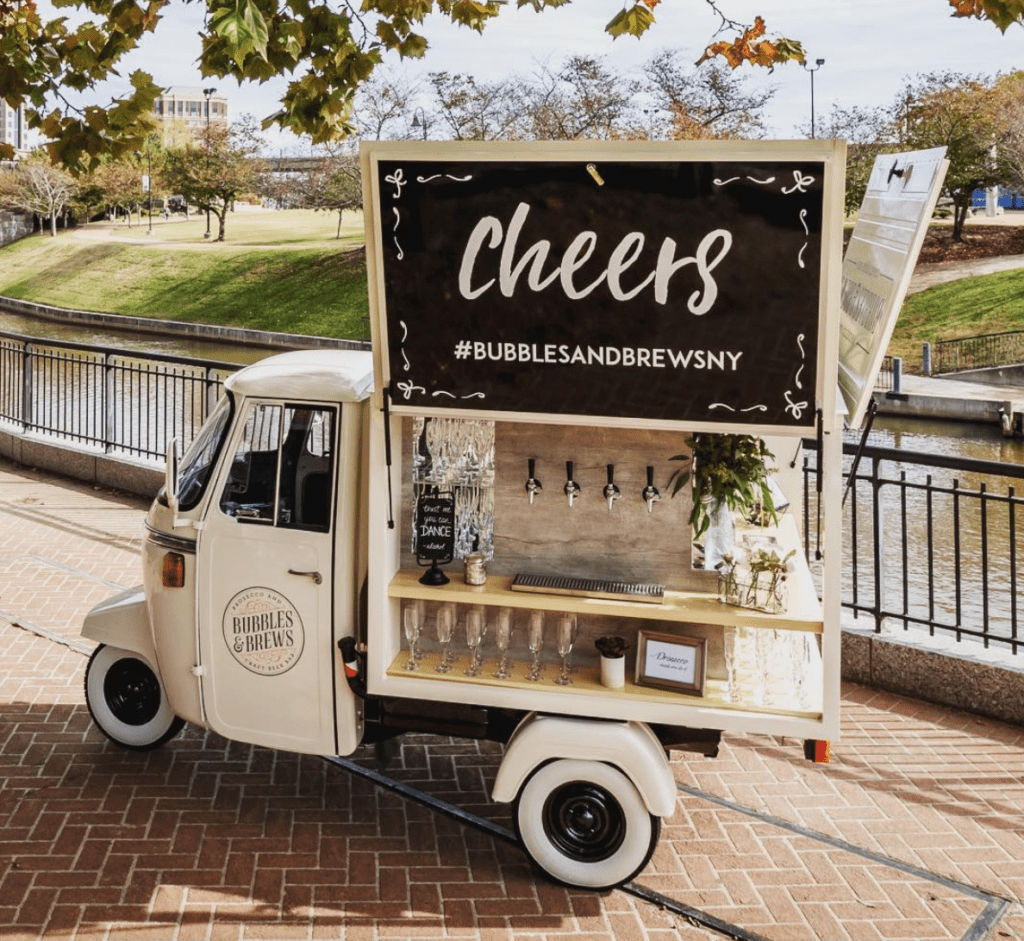 Bubbles And Brews Prosecco Wedding Catering