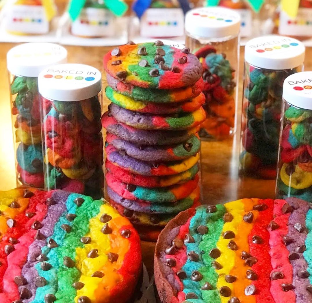 Baked in Color Rainbow Cookies