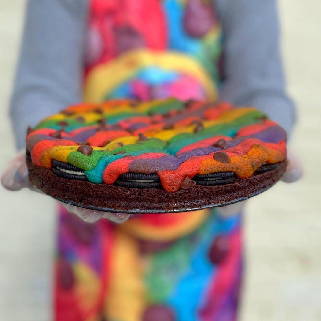 Custom Rainbow Cookie Cake