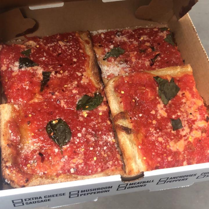 Jiannetto's Thin Crut Grandma Style Pizza Catering