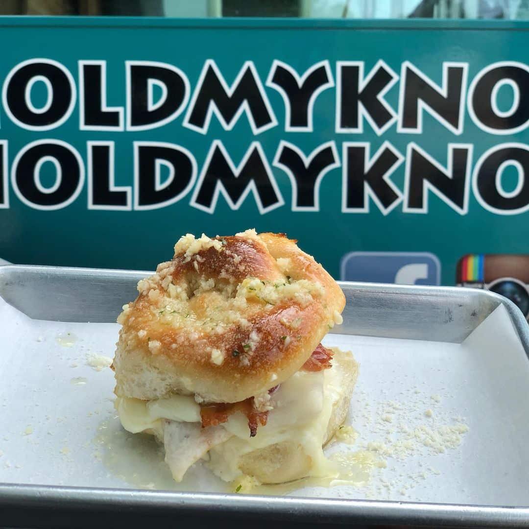 Provolone Garlic Knot Slider Food Truck