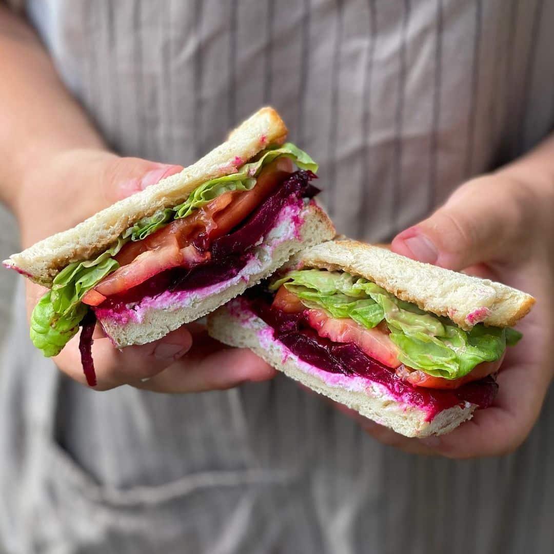Vegetarian Beet Sandwich Hand Held Kitchen Food Truck