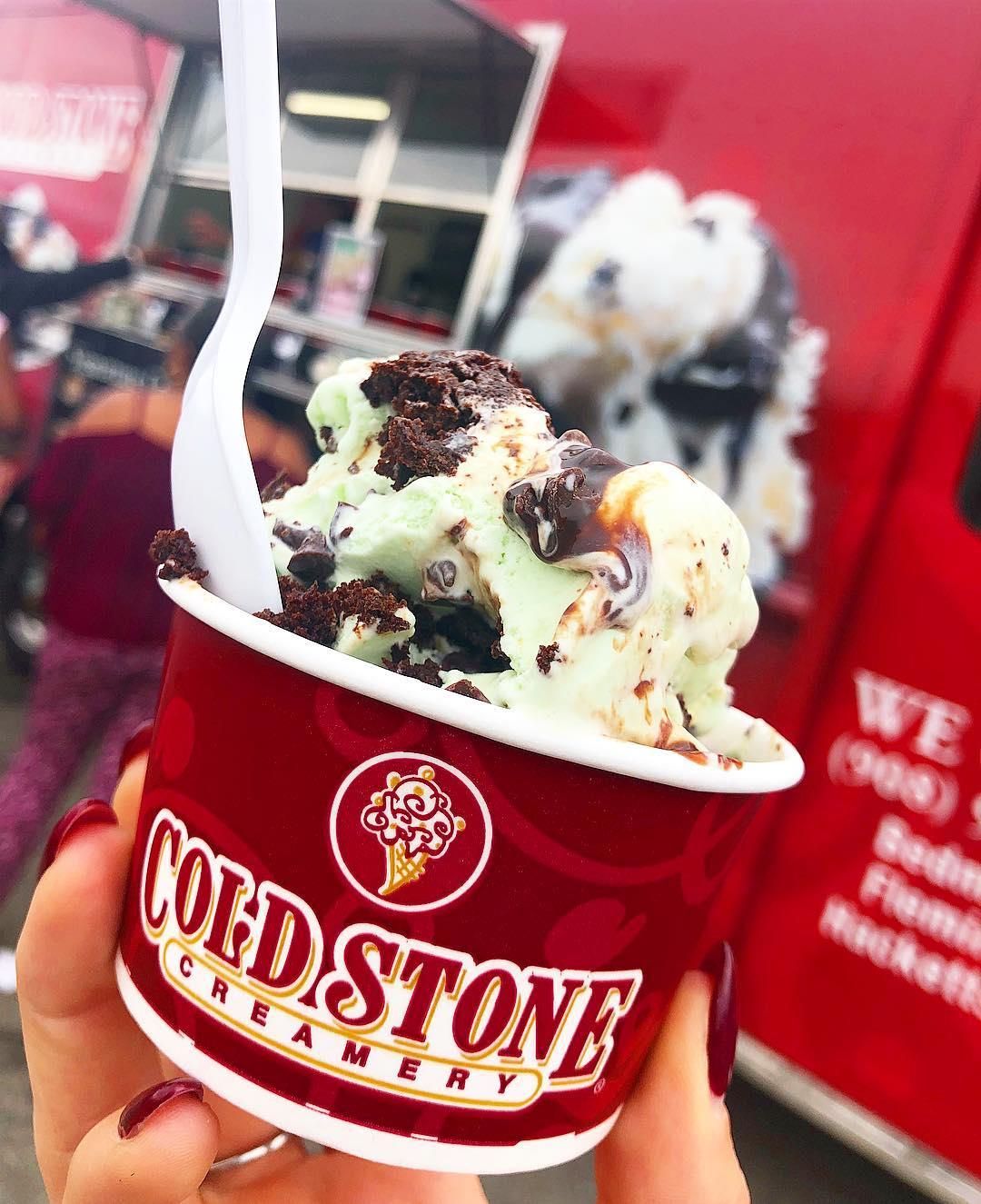 Mint Chocolate Chip Ice Cream Cold Stone Creamery Food Truck