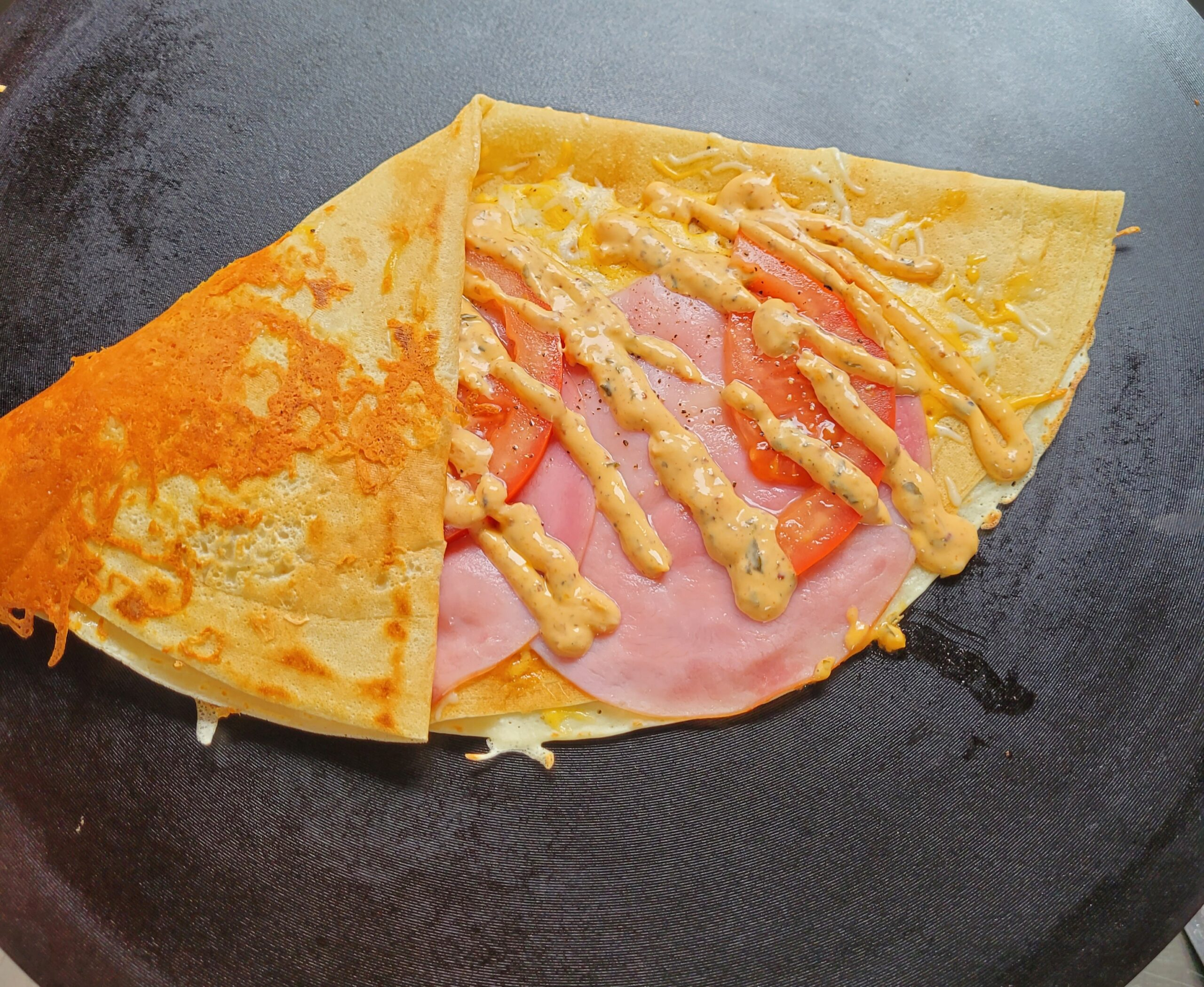 Ham and Cheese Crepe from Crepe It NYC food truck