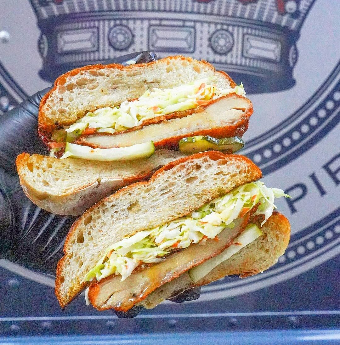Hot Honey Fried Chicken Sandwich from Streat Kings Food Truck in NYC