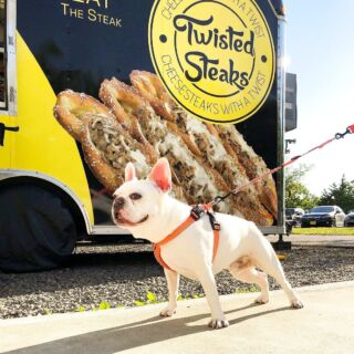"""""""What's that smell?"""" -@lordstanley_pup 🐶  Oh, just award-winning cheesesteaks served on a hand-twisted artisan pretzel 🥨  Book @twistedsteaks to cater your private event through our website now!"""